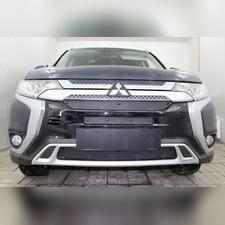 Защита радиатора нижняя Mitsubishi Outlander III 2018-н.в. PREMIUM зимний