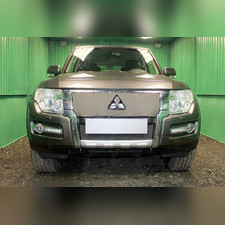 Защита радиатора нижняя Mitsubishi Pajero IV 2015-н.в. PREMIUM зимний