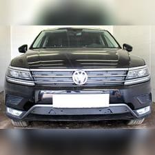 Защита радиатора нижняя Volkswagen Tiguan II 2016-н.в. (Off-Road) PREMIUM зимний