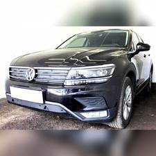 Защита радиатора нижняя с парктроником Volkswagen Tiguan II 2016-н.в. (Off-Road) PREMIUM зимний