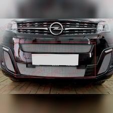 Защита радиатора центральная и нижняя Opel Zafira Life 2019-н.в. стандартная хром