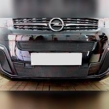 Защита радиатора центральная и нижняя Opel Zafira Life 2019-н.в. стандартная черная