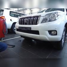 Защита радиатора верхняя Toyota LC Prado 150 2009-2014 (6 частей) стандартная черная