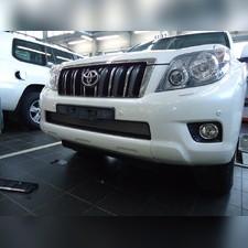 Защита радиатора верхняя Toyota LC Prado 150 2009-2014 (6 частей) стандартная хром
