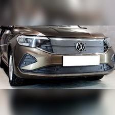 Зимняя защита на стяжке верхняя Volkswagen Polo 2020-н.в. (4 части)