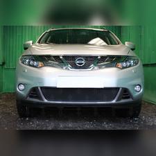 Защита радиатора Nissan Murano Z51 (рестайлинг) 2010-2015 PREMIUM зимний пакет