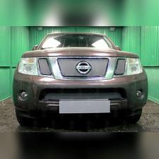 Защита радиатора верхняя Nissan Pathfinder (NAVARA) 2011-2012 PREMIUM зимний пакет