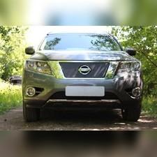 Защита радиатора верхняя Nissan Pathfinder 2014-н.в. PREMIUM зимний пакет