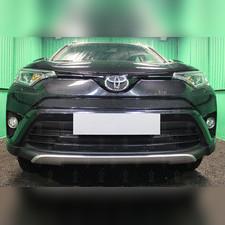 Защита радиатора нижняя Toyota Rav 4 2015-2019 (2 части) PREMIUM зимний пакет