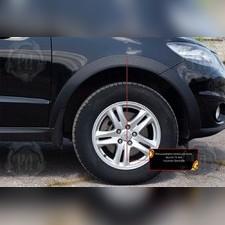 Расширители колесных арок (вынос 15 мм) Hyundai Santa Fe II 2009-2012 (рестайлинг)