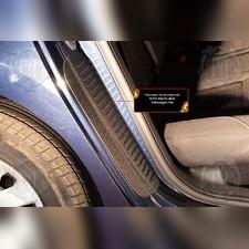 Накладки на внутренние части задних арок со скотчем 3М Volkswagen Polo V 2016-2019