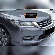 Накладки на передние фары (реснички) Honda Accord IX (седан) 2012-2015