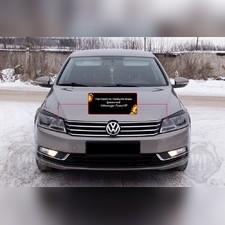 Накладки на передние фары (реснички) Volkswagen Passat В7 (седан) 2011-2015