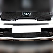 Защита радиатора средняя KIA Sorento 2020-н.в. стандартная черная