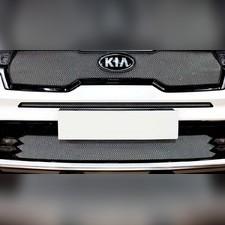 Защита радиатора верхняя KIA Sorento 2020-н.в. стандартная хром