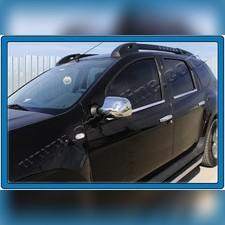 Накладки на зеркала Renault Duster 2011 - 2018 (Нержавеющая сталь)