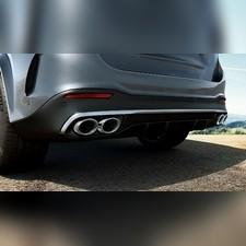 Диффузор с насадками 53 AMG Mercedes GLE (V 167) серебро