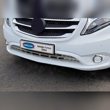 Окантовка противотуманных фар Mercedes Vito W447 2014-нв (полированная нержавеющая сталь) 2 шт