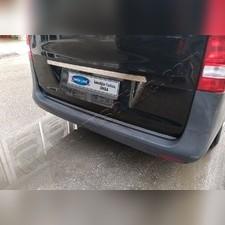 Накладка над номером на дверь багажника, Mercedes Vito W447, 1 часть (нержавеющая сталь)
