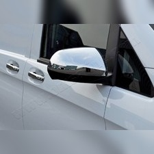 Накладки на зеркала Mercedes Vito, V-класс W447 2014-нв, 2 шт (пластик ABS)