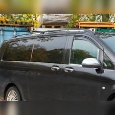 Нижние молдинги стекол Mercedes Vito W447 2014-нв (8 шт., нержавеющая сталь, L3, одна дверь)