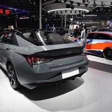 Lip Спойлер RS для Hyundai Elantra 2021 (окрашенный в черный цвет)