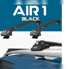"""Багажник аэродинамический на рейлинги с замком, Jeep Cherokee 2013 - нв, """"Air 1 Black"""""""