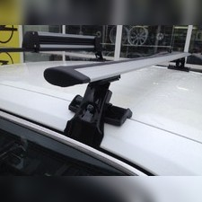 """Багажник на крышу с прямоугольными поперечинами Jaguar XF 2008-2015 Седан, модель """"Крыло"""""""