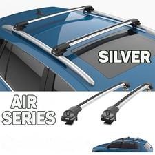 """Багажник аэродинамический на рейлинги с замком, Nissan Qashqai +2 2008-2013, """"Air 1 SILVER"""""""
