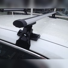 """Багажник на крышу с прямоугольными поперечинами Kia Venga 2010 - нв Хэтчбек, модель """"Аэро"""""""