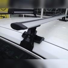 """Багажник на крышу с прямоугольными поперечинами Porsche Cayenne 2010 - 2017, модель """"Крыло"""""""