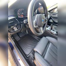 "Ковры салона передние BMW 5 серия 2016-нв G30/G31 ""3D Lux"", аналог ковров WeatherTech(США)"
