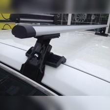 """Багажник на крышу с аэродинамическими поперечинами Seat Ibiza 2008- 2017 """"Аэро"""" (гладкая крыша)"""