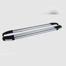 "Пороги, подножки, ступени TOYOTA HILUX 2004-2015, модель ""Brilliant Silver"""