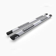 """Пороги, подножки, ступени PEUGEOT 4008 2012-2017, модель """"Emerald Silver"""""""