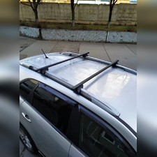 """Прямоугольные поперечины на рейлинги Renault Laguna 2001-2004 Универсал """"Favorit"""""""
