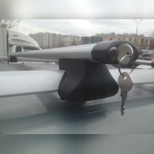 Аэродинамические поперечины на рейлинги Volkswagen Golf Plus 2005-2009 Хэтчбек Favorit Аэро с замком