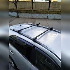 """Прямоугольные поперечины на рейлинги Volkswagen Golf Plus 2009-2014 Хэтчбек """"Favorit"""""""