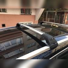 Поперечины на интегрированные рейлинги с замком Lexus RX 2016-нв , Turmaline V2 SILVER