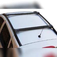 Поперечины на рейлинги аэродинамические Nissan Qashqai 2014 - нв, Diamond Black