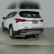 Защита задняя (уголки) 60,3 мм Hyundai Santa Fe 2021-нв