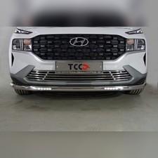 Защита передняя нижняя (с ДХО) 60,3 мм Hyundai Santa Fe 2021 - нв