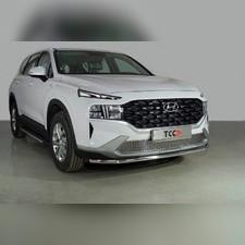 Защита передняя нижняя 42,4 мм Hyundai Santa Fe 2021 - нв