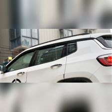 Дефлекторы окон Jeep Compass 2018-нв, комплект из 6-ти частей (темные)