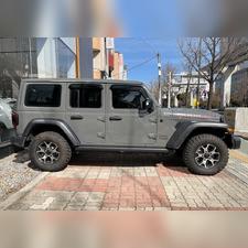 Дефлекторы окон Jeep Wrangler 2018 -нв, комплект из 4-х частей (темные)