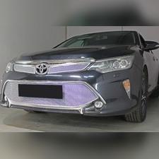 """Защита радиатора нижняя Toyota Camry XV50/XV55 2017-2018 """"PREMIUM CHROME"""""""