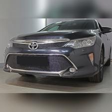 """Защита радиатора нижняя Toyota Camry XV50/XV55 2017-2018 """"PREMIUM BLACK"""""""