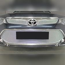 "Защита радиатора верхняя Toyota Camry XV50/XV55 2017-2018 ""PREMIUM CHROME"" ( 2 части )"