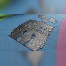 Ковры салона T5 2003-2015, 2-й и 3-й ряд