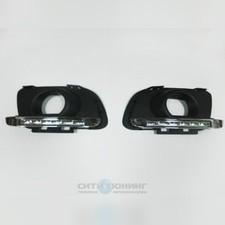 Штатные светодиодные дневные ходовые огни (ДХО), комплект Mazda 6 2007-2009
